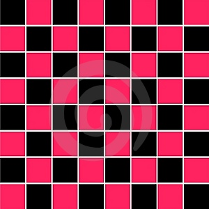 Pink Black Checkered Squares Stock Photography - Image: 9510662