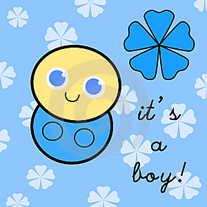 It's A Baby Boy! Stock Image - Image: 9510711