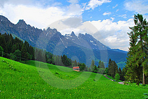 High-mountainous Spring Landscape. Stock Photo - Image: 9511200