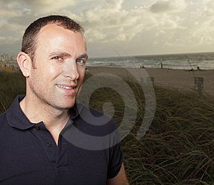 Man On The Beach Royalty Free Stock Image - Image: 9512196