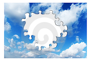 Blue Sky With Clouds Royalty Free Stock Photography - Image: 9512757