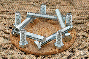 Composition Of Ten Bolts Royalty Free Stock Images - Image: 9514779