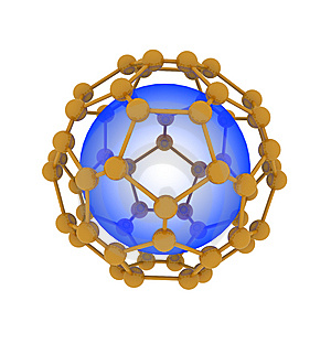 Molecule With Sphere Isolated Stock Photography - Image: 9516392