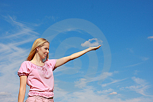 Cloud Holding Stock Photography - Image: 9520182