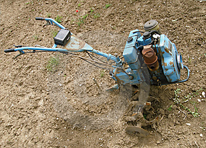 Rotary Cultivator Royalty Free Stock Photography - Image: 9520737