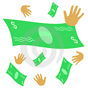 Chasing Money Stock Images - Image: 9521074