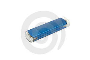 Blue USB Stick Storage Device Royalty Free Stock Photos - Image: 9521508
