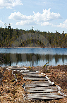 Old Wooden Pier To Lake Stock Photo - Image: 9523780