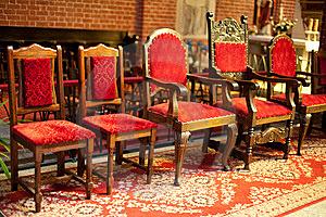 Old Chairs In Church Royalty Free Stock Images - Image: 9526159
