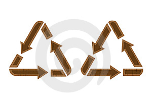 Wooden Recycling Icon Stock Image - Image: 9526361