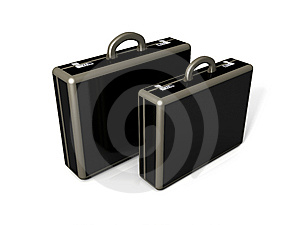 3D Briefcase Rendering Stock Photo - Image: 9526670