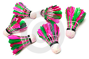 Shuttlecock With Feathers Royalty Free Stock Photos - Image: 9529978