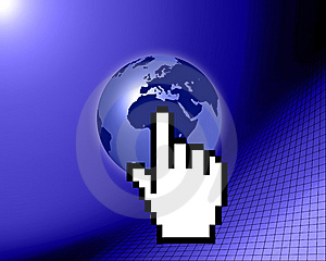 World Globe With Cursor Stock Photography - Image: 9531562