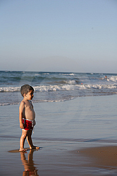 Boy At The Beach Stock Photo - Image: 9531840