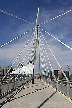 Cable Pedestrian Bridge Royalty Free Stock Images - Image: 9533019