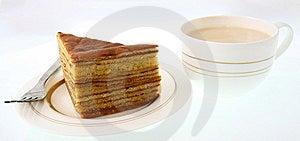 Cake And Milk Tea Stock Image - Image: 9533921