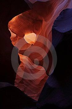 Antelope Canyon Hole In Canyon Royalty Free Stock Images - Image: 9536139