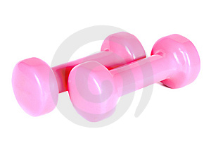 Two Pink Dumb-bell Stock Image - Image: 9537121