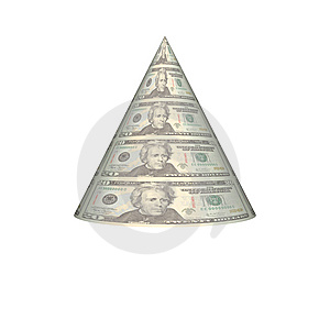 Dollar Pyramid Royalty Free Stock Images - Image: 9538309