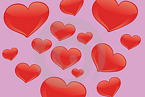 Red Hearts Stock Image - Image: 9538331