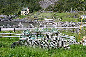 Lobster Traps Waiting For A New Season Royalty Free Stock Photography - Image: 9539437