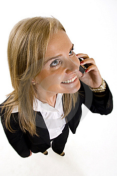 Wide Angle Picture Of An Attractive Businesswoman Stock Photography - Image: 9539692