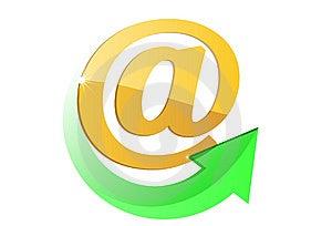 E-mail Simbol Stock Image - Image: 9542051