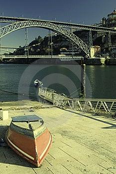 Small Boat Near Harbor Stock Image - Image: 9542481