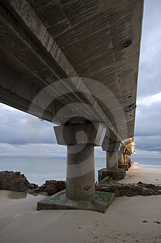Under The Pier Stock Image - Image: 9542541