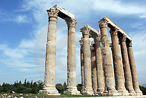 Ruins In Athens Royalty Free Stock Images - Image: 9542579