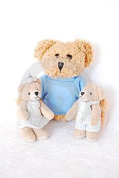 Teddy-bear Family Stock Photo - Image: 9543100