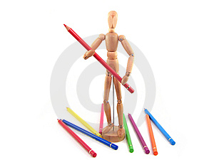 Artist Mannequin Royalty Free Stock Photo - Image: 9543455