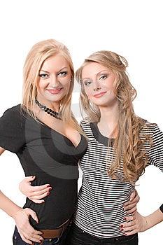 Similar Blonde Sister Isolated Royalty Free Stock Photo - Image: 9543635