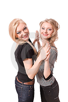 Similar Blonde Sister Isolated Royalty Free Stock Images - Image: 9543649