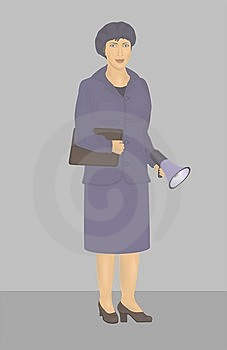 Woman In Blue Suit Royalty Free Stock Photo - Image: 9544705