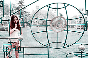 Asian Girl Outdoors Royalty Free Stock Photography - Image: 9545917