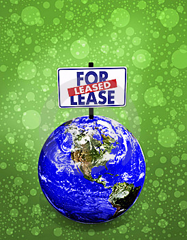 3d Earth For Lease Royalty Free Stock Images - Image: 9546019