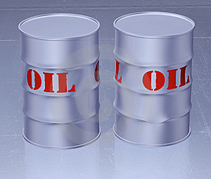 Oil Barrel 3d Stock Photography - Image: 9546132