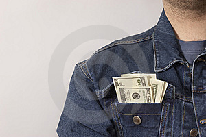 Pocket Full Of C-notes Royalty Free Stock Photos - Image: 9548038