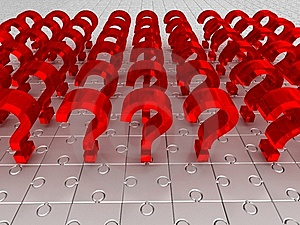 Questions. puzzle Stock Photos