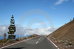 The Road Around Teide Volcano Stock Image - Image: 9556481