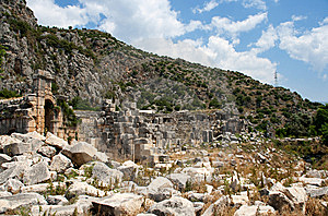Lycian Tombs Stock Photography - Image: 9557472