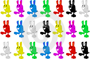Easter Bunnies Royalty Free Stock Images - Image: 9558449