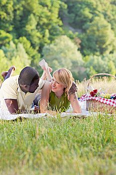 Couple Picnicking In Park Royalty Free Stock Photography - Image: 9558827