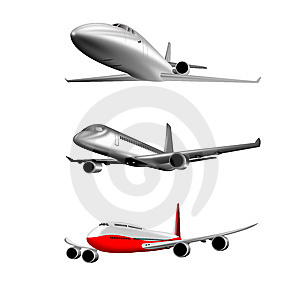 Commercial Airliner Stock Photo - Image: 9560250
