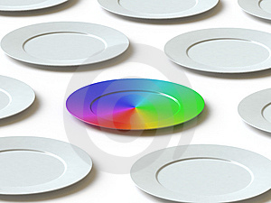 Tableware Collection - Push Here Royalty Free Stock Photo - Image: 9561815