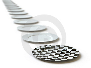 Tableware Collection - Push Here Royalty Free Stock Photos - Image: 9561848