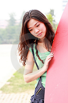 Asian Beauty Outdoors Royalty Free Stock Photo - Image: 9563515