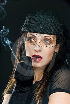 Smoke And Meditation Stock Photography - Image: 9563562