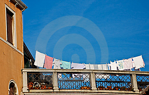 Terrace With Laundry Royalty Free Stock Images - Image: 9564419